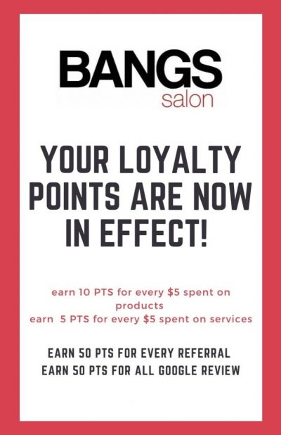 bangs loyalty points system